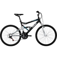 Bicicleta Mountain Bike Caloi 21 Marchas Aro 26 Suspensão Full Suspension Freio V-Brake KS