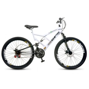 Foto Bicicleta Mountain Bike Colli Bikes 21 Marchas Aro 26 Suspensão Full Suspension Freio a Disco Full-S GPS 220