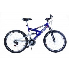Foto Bicicleta Mountain Bike Dalannio Bike 18 Marchas Aro 20 Suspensão Full Suspension Freio V-Brake Max 220