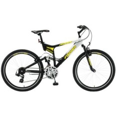 Foto Bicicleta Mountain Bike Fischer 21 Marchas Aro 26 Suspensão Full Suspension Freio V-Brake Altary