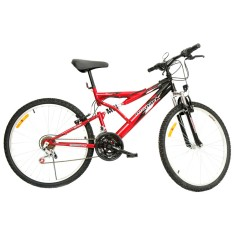 Foto Bicicleta Mountain Bike Monark 21 Marchas Aro 26 Suspensão Full Suspension Freio V-Brake Plus