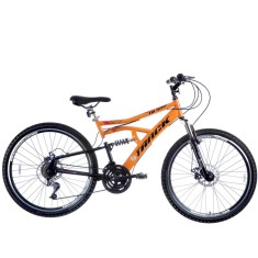 Foto Bicicleta Mountain Bike Track & Bikes 21 Marchas Aro 26 Suspensão Full Suspension Freio a Disco TB 500