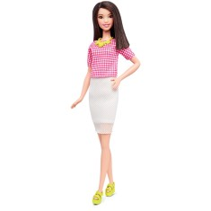 Foto Boneca Barbie Fashionistas White & Pink Pizzazz Mattel