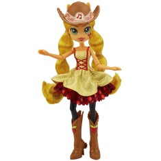 Foto Boneca My Little Pony Equestria Girls Rainbow Rocks Applejack Penteados de Arrasar Hasbro