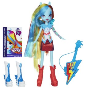 Foto Boneca My Little Pony Equestria Girls Rainbow Rocks Rainbow Dash Hasbro