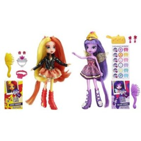 Foto Boneca My Little Pony Equestria Girls Sunset Shimmer e Twilight Sparkle Hasbro
