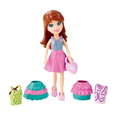 Foto Boneca Polly Super Fashion Lila Mattel