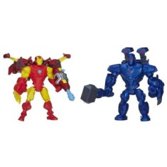 Foto Boneco Marvel Super Hero Mashers Iron Man VS Iron Monger A8159/A9530 - Hasbro