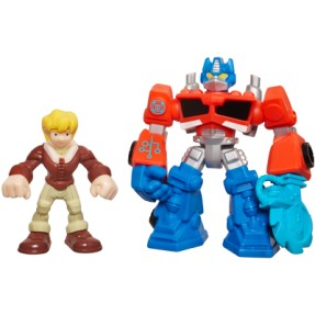 Foto Boneco Optimus Prime Cody Burns Transformers Playskool Heroes A2108 - Hasbro