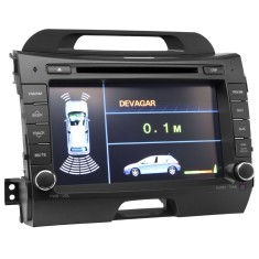 "Foto Central Multimídia Automotiva H-Buster 7 "" Sensor de Estacionamento HBO-8948KI Touchscreen"