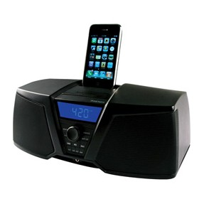 Foto Dock Station com Caixa de Som Integrada Kicker Despertador Rádio FM iK150