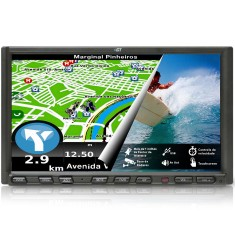 "Foto DVD Player Automotivo GT Sound 7 "" GT2100GPS Touchscreen USB"