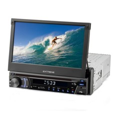 "Foto DVD Player Automotivo Multilaser 7 "" Extreme P3296 Touchscreen Entrada para camêra de ré"