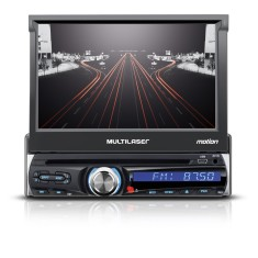 "Foto DVD Player Automotivo Multilaser 7 "" Motion P3238 Touchscreen Entrada para camêra de ré"