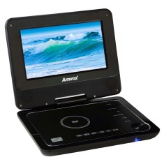 "Foto DVD Player Portátil Tela 7"" AMD 1100 Amvox"