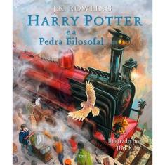 Foto Harry Potter e A Pedra Filosofal - Edição Ilustrada - Rowling, J. K. - 9788532530271