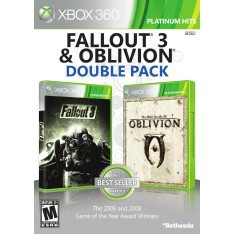 Foto Jogo Fallout 3 & Obvilion Double Pack Xbox 360 Bethesda