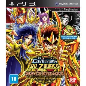 Foto Jogo Os Cavaleiros do Zodíaco: Bravos Soldados PlayStation 3 Bandai Namco