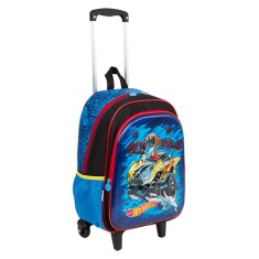 Foto Mochila com Rodinhas Escolar Sestini Hot Wheels Hot Wheels 17X G 64757