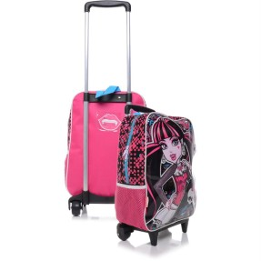Foto Mochila com Rodinhas Escolar Sestini Monster High 15 Litros Monster High 63470