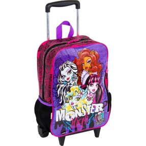 Foto Mochila com Rodinhas Escolar Sestini Monster High Monster High 63022