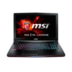 "Foto Notebook MSI GE62 Intel Core i7 7700HQ 15,6"" 16GB HD 1 TB GeForce GTX 1070 SSD 120 GB"