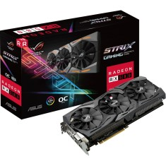 Foto Placa de Video ATI Radeon RX 580 8 GB GDDR5 256 Bits Asus ROG-STRIX-RX580-O8G-GAMING