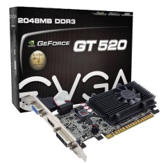 Foto Placa de Video NVIDIA GeForce GT 520 2 GB DDR3 64 Bits EVGA 02G-P3-1529-KR