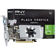 Foto Placa de Video NVIDIA GeForce GT 730 2 GB DDR3 128 Bits PNY VCGGT7302D3LXPB
