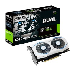 Foto Placa de Video NVIDIA GeForce GTX 1050 Ti 4 GB GDDR5 128 Bits Asus DUAL-GTX1050TI-O4G