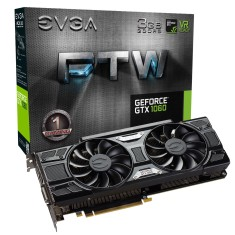 Foto Placa de Video NVIDIA GeForce GTX 1060 3 GB GDDR5 192 Bits EVGA 03G-P4-6168-KR