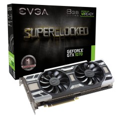 Foto Placa de Video NVIDIA GeForce GTX 1070 8 GB GDDR5 256 Bits EVGA 08G-P4-6173-KR