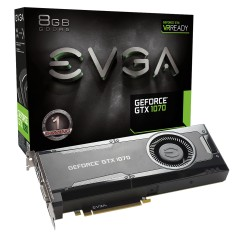 Foto Placa de Video NVIDIA GeForce GTX 1070 8 GB GDDR5 256 Bits Galax 08G-P4-5170-KR