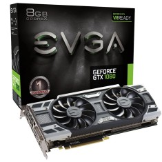 Foto Placa de Video NVIDIA GeForce GTX 1080 8 GB GDDR5X 256 Bits EVGA 08G-P4-6181-KR