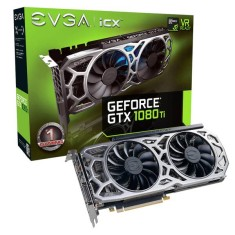 Foto Placa de Video NVIDIA GeForce GTX 1080 Ti 11 GB GDDR5X 352 Bits EVGA 11G-P4-6593-KR