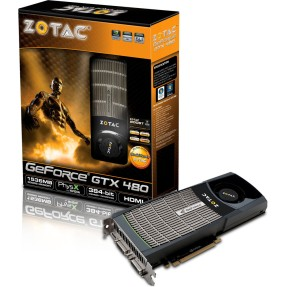 Foto Placa de Video NVIDIA GeForce GTX 480 1,5 GB GDDR5 384 Bits Zotac ZT-40101-10P