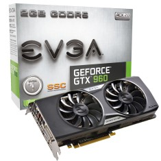 Foto Placa de Video NVIDIA GeForce GTX 960 2 GB GDDR5 128 Bits EVGA 02G-P4-2966-KR