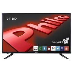"Foto Smart TV LED 39"" Philco PH39U21DSGW 3 HDMI LAN para Conexões de Cabo de Rede"