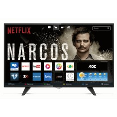 "Foto Smart TV LED 43"" AOC Série 5000 Full HD LE43S5970 3 HDMI"