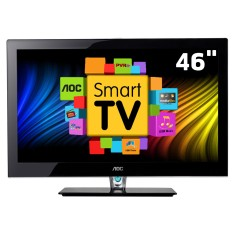 "Foto Smart TV LED 46"" AOC Série 158i Full HD LE46H158I 4 HDMI"
