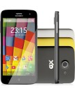 Smartphone Qbex QX A28 8GB 8,0 MP 2 Chips Android 4.4 (Kit Kat) 3G Wi-Fi