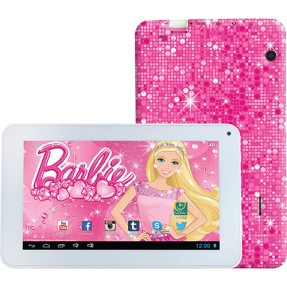 "Foto Tablet Candide Barbie Fantastic 1807 8GB 7"" Android 2 MP 4.1 (Jelly Bean)"