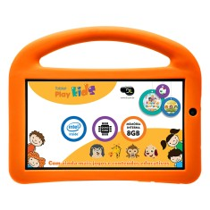 "Foto Tablet DL Eletrônicos PlayKids 8GB 7"" Android 5.1 (Lollipop)"