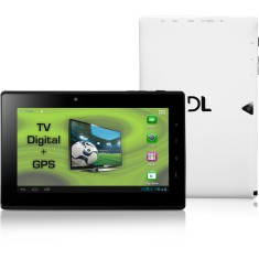 "Foto Tablet DL Eletrônicos DroidTV DR-T71 4GB 7"" Android 2 MP"