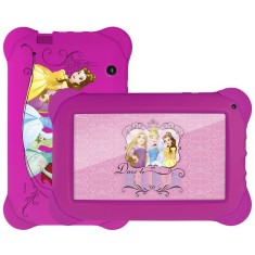 "Foto Tablet Multilaser Disney Princesas NB239 8GB 7"" Android 2 MP 4.4 (Kit Kat)"