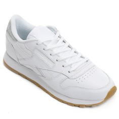 Foto Tênis Reebok Feminino Classic Leather Met Diamond Casual