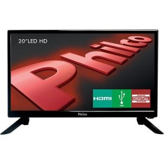 "Foto TV LED 20"" Philco PH20N91D 1 HDMI USB Frequência 60 Hz"