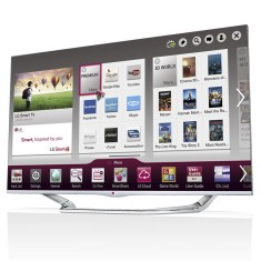 "Foto Smart TV LED 3D 55"" LG Cinema Full HD 55LA7400"