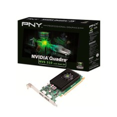 Placa de Video NVIDIA Quadro 310 512 MB DDR3 64 Bits PNY VCNVS310DP-PB