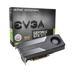 Placa de Video NVIDIA GeForce GTX 970 4 GB GDDR5 256 Bits EVGA 04G-P4-1972-KT